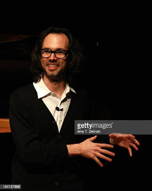 Pianist James Rhodes speaks between performing Beethoven Chopin and Bach on a Steinway grand piano at the Queen Elizabeth Hall at Southbank Center on...