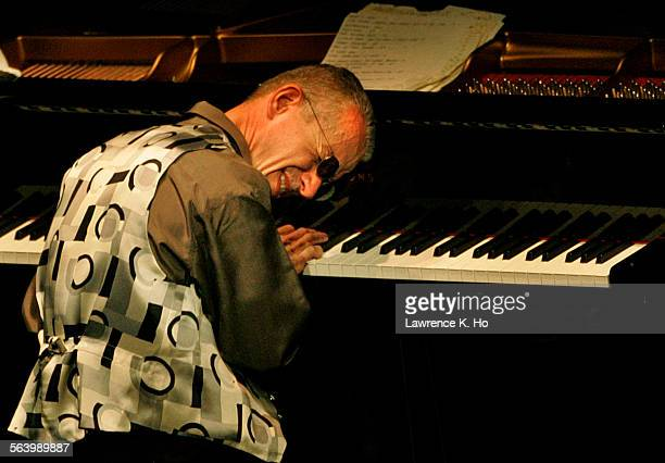 Pianist Keith Jarrett with bassist Gary Peacock and drummer Jack DeJohnette at UCLA Royce Hall.