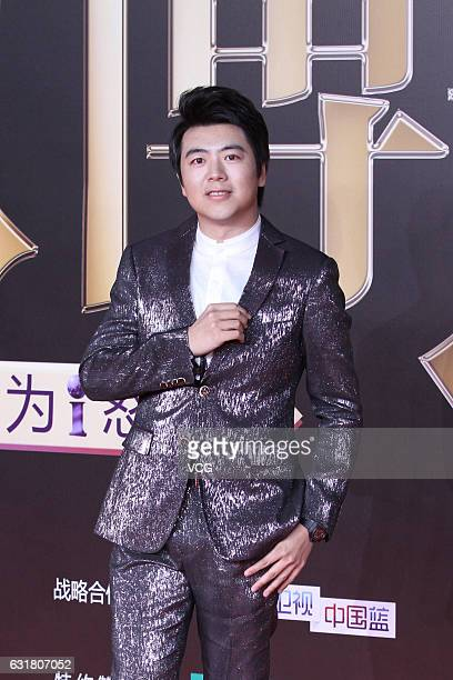 Pianist Lang Lang arrives at red carpet of 2016 Weibo Awards Ceremony on January 16 2017 in Beijing China