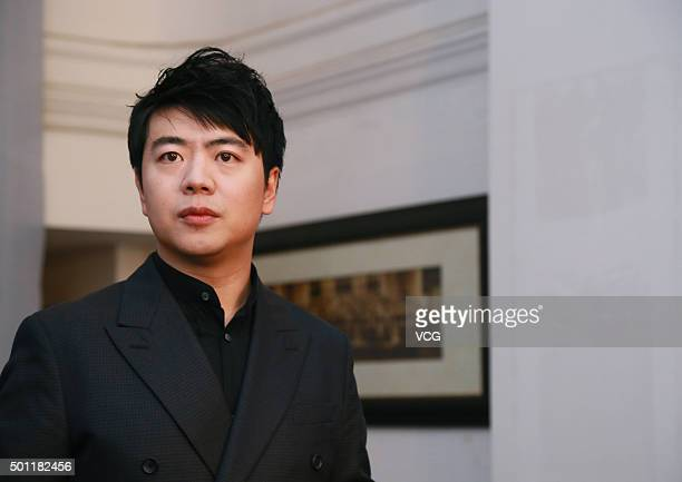 Pianist Lang Lang attends a press conference of his piano recital on December 12 2015 in Guangzhou Guangdong Province of China
