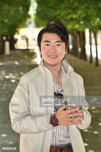 Pianist Lang Lang attends the Louis Vuitton Menswear Spring/Summer 2019 show as part of Paris Fashion Week Week on June 21 2018 in Paris France