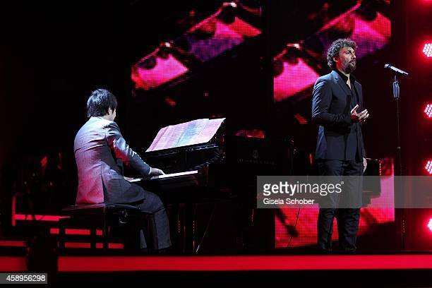 Pianist Lang Lang, Jonas Kaufmann during the Bambi Awards 2014 show on November 13, 2014 in Berlin, Germany.