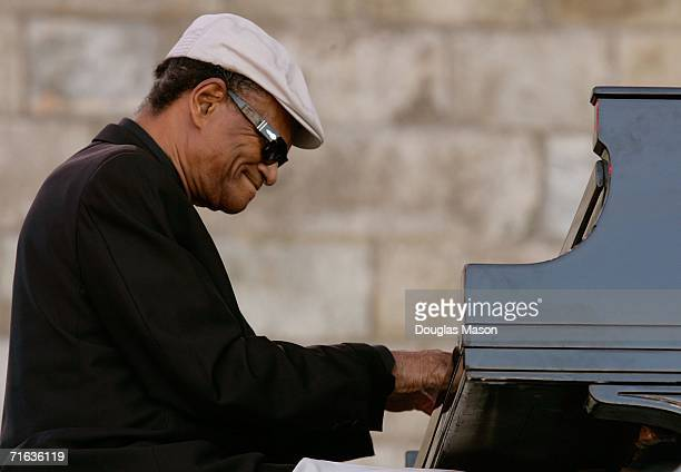 Pianist McCoy Tyner performs at the JVC Jazz Festival Newport at Fort Adams State Park August 12 2006 in Newport Rhode Island
