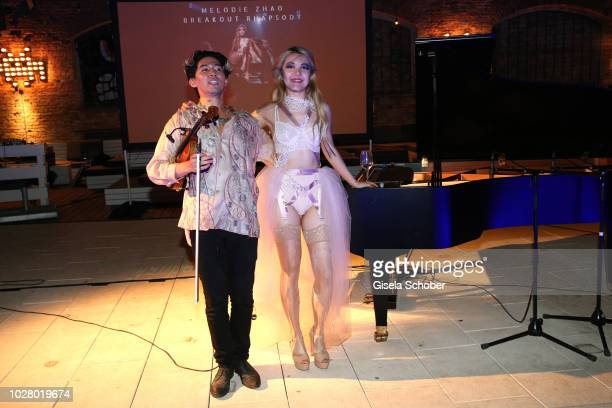 Pianist Melodie Zhao performs live on stage at Haubentaucher Club and celebrates her 24th birthday with Iskandar Widjaja on September 6 2018 in...