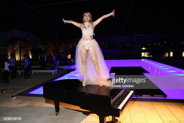 Pianist Melodie Zhao performs live on stage at Haubentaucher Club and celebrates her 24th birthday on September 6 2018 in Berlin Germany