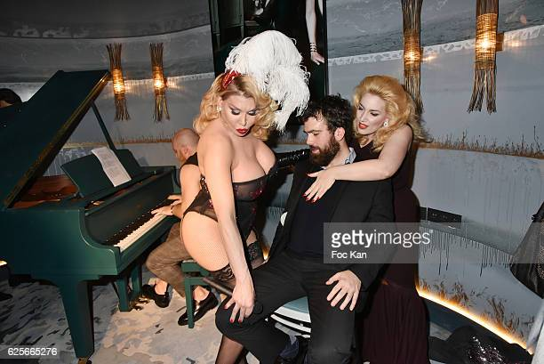 Pianist musician Leonard Lasry Singer /performer Allanah Starr a 'volunteer' guest and singer Lolly Wish perform a burlesque show during 'Vibrations'...
