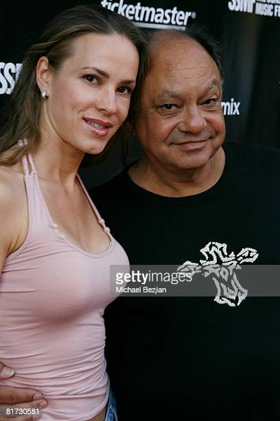 Pianist Natasha Rubin and actor Cheech Marin attend the Sunset Strip Music Festival tribute concert honoring Lou Adler Mario Maglieri and Elmer...
