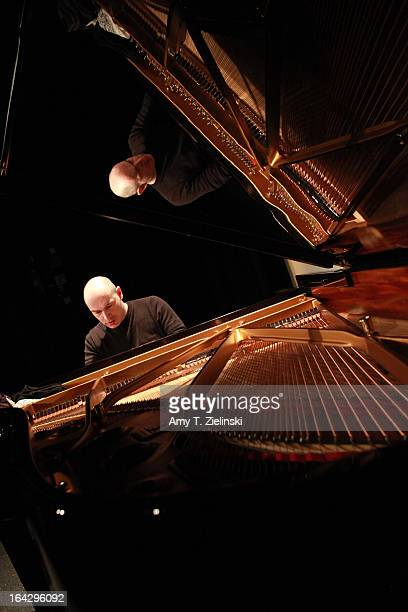 Pianist Nick van Bloss performs Bach's Goldberg Variations during rehearsal at a Steinway grand piano on stage in Cine Lumiere during 'It's All About...