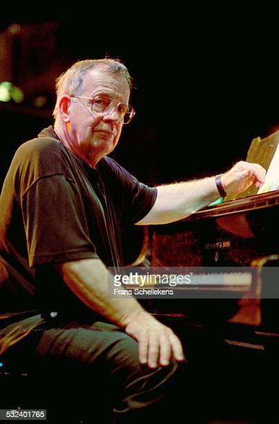 Pianist Pete Jolly performs on April 21st 2002 at the BIM huis in Amsterdam, Netherlands.