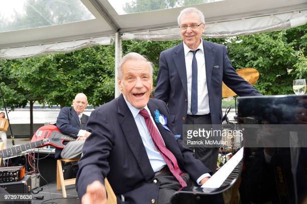 Pianist Peter Duchin and guest attend the Franklin D Roosevelt Four Freedoms Park's gala honoring Founder Ambassador William J Vanden Heuvel at...