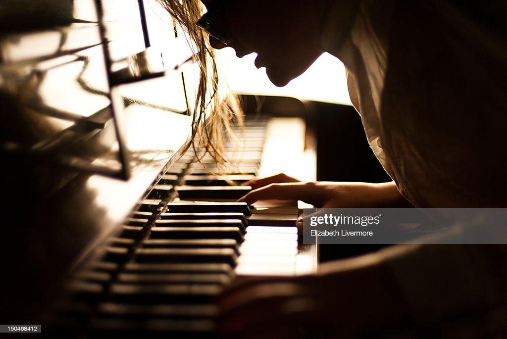 Pianist : Bildbanksbilder