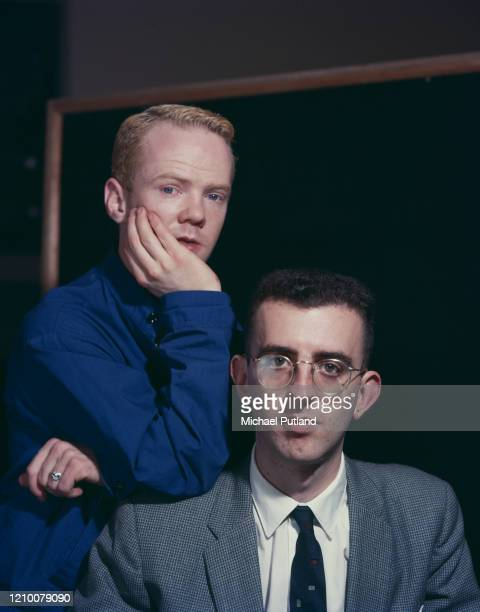 Pianist Richard Coles and singer Jimmy Somerville of British pop duo The Communards, London circa 1985.