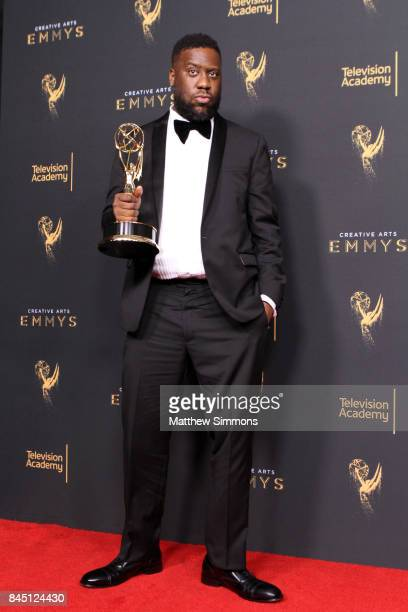 Pianist Robert Glasper poses in the pressroom during the 2017 Creative Arts Emmy Awards at Microsoft Theater on September 9 2017 in Los Angeles...