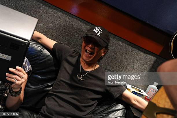 Pianist Ryo Okumoto attends the Kaylene Peoples My Man Recording Session with Hubert Laws at The Mouse House Studio on April 29 2013 in Altadena...
