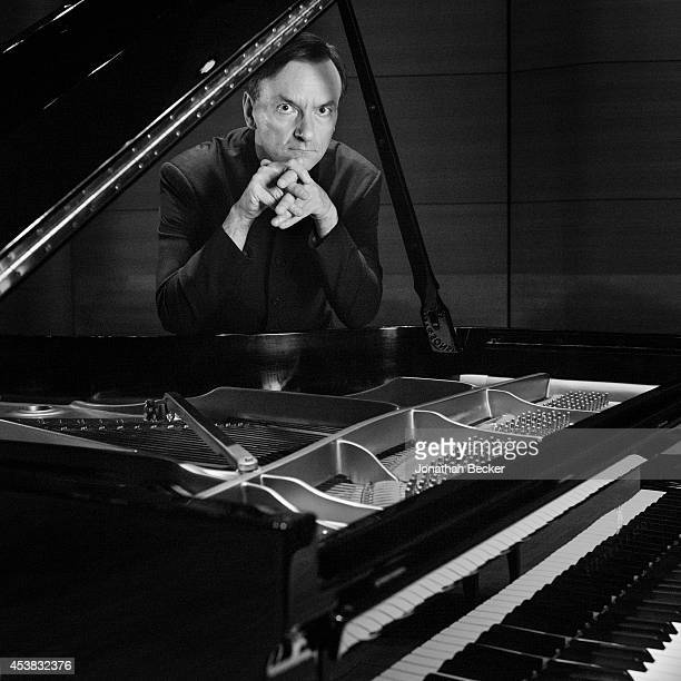 Pianist Stephen Hough is photographed for Vanity Fair Magazine on January 20 2014 at Alice Tully Hall Lincoln Center in New York City