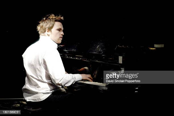 Pianist Steve Holness performs live on stage at Ronnie Scott's Jazz Club in Soho, London on 31st March 2003.