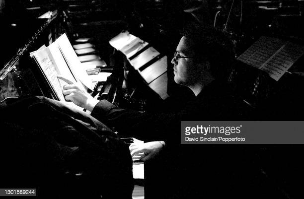 Pianist Steve Holness performs live on stage at Ronnie Scott's Jazz Club in Soho, London on 22nd April 2002.