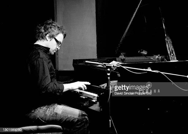 Pianist Steve Holness performs live on stage at Ronnie Scott's Jazz Club in Soho, London on 26th August 2008.