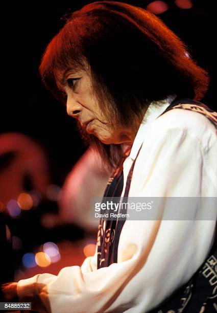 Pianist Toshiko Akiyoshi performs on stage at the Jazz A Vienne Festival held in Vienne France in July 1996