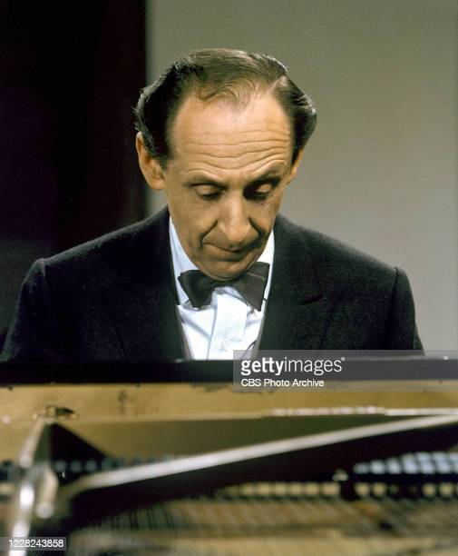 """Pianist Vladimir Horowitz performs on the CBS television program """"A Television Carnegie Hall Concert"""" on August 21 in New York, New York."""