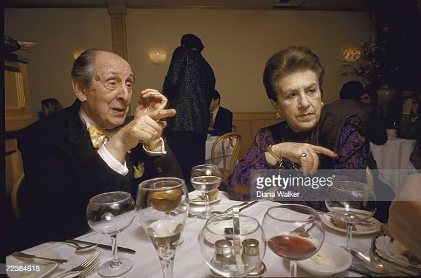 Pianist Vladimir Horowitz with wife Wanda at Sistina restaurant