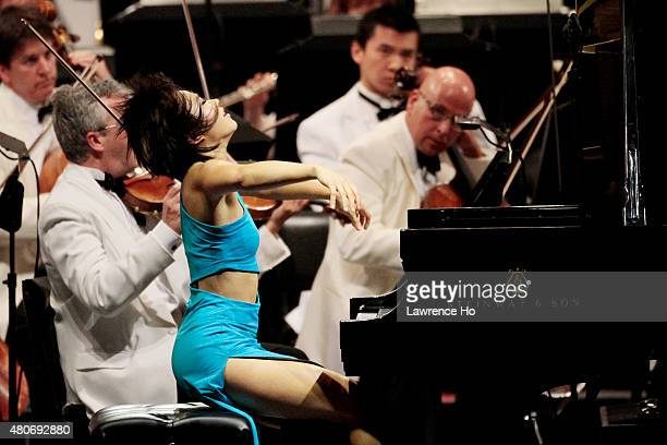 Pianist Yuja Wang is photographed for Los Angeles Times on July 7 2014 in Los Angeles California PUBLISHED IMAGE CREDIT MUST READ Lawrence Ho/Los...