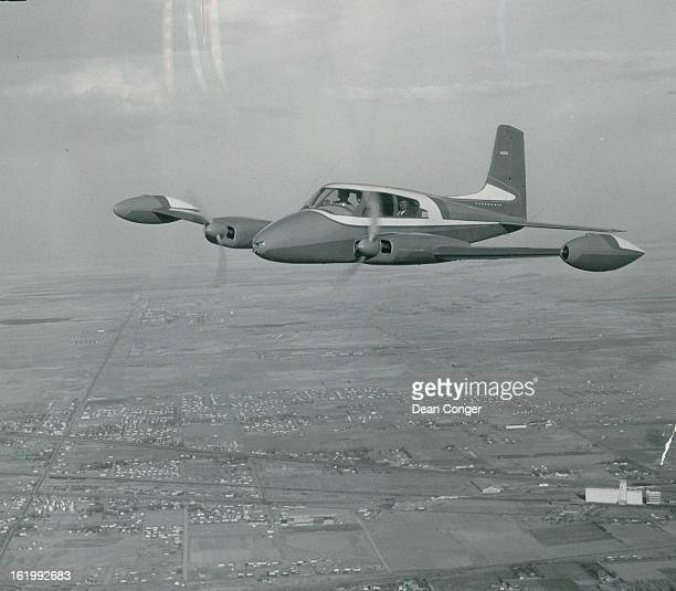 APR 22 1954 Piano Auditions Set Here Is The New Cessna Model 310 Being Shown At Stapleton Field