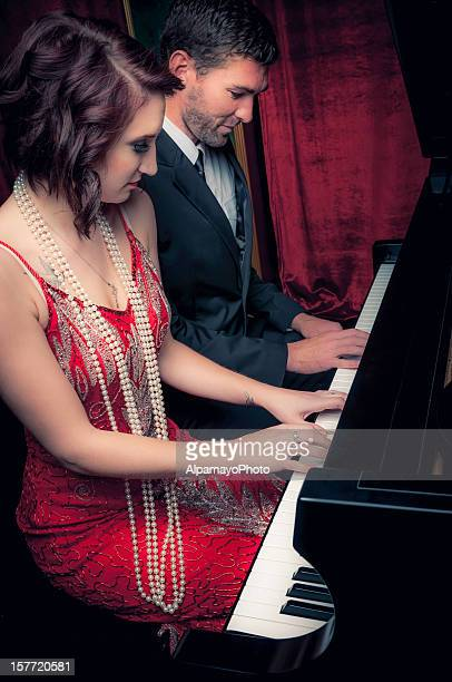 piano duet - i - duet stock pictures, royalty-free photos & images