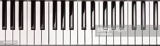 piano key - keyboard instrument stock photos and pictures