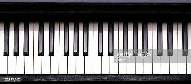 piano keys - keyboard instrument stock photos and pictures