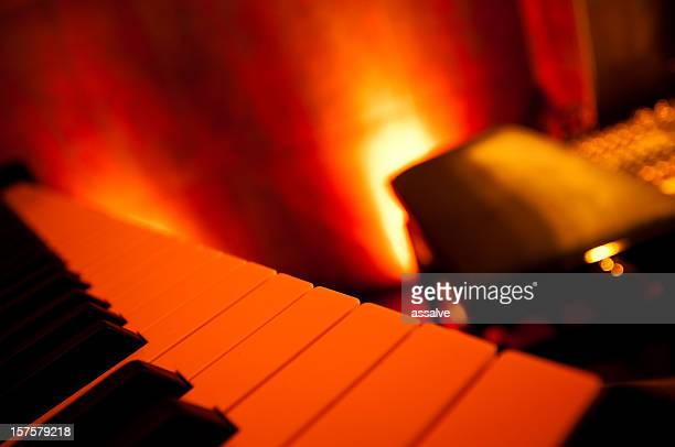piano keys - grand piano stock photos and pictures
