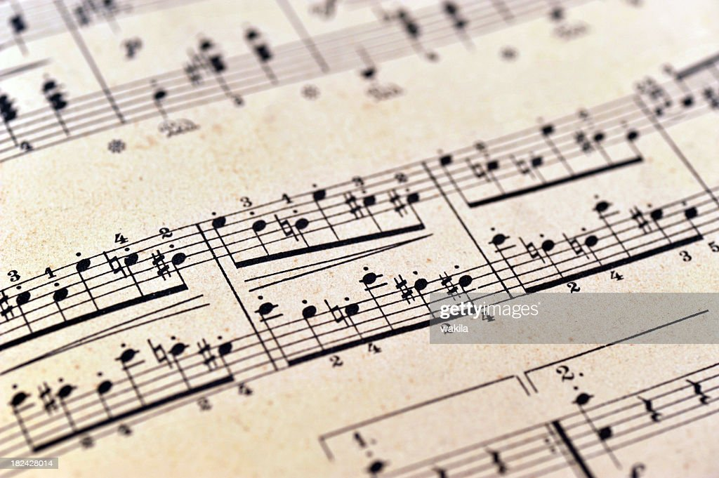 piano notes sheet music - Klaviernoten : Stock Photo