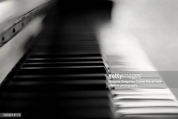 piano - gregoria gregoriou crowe fine art and creative photography. stock-fotos und bilder
