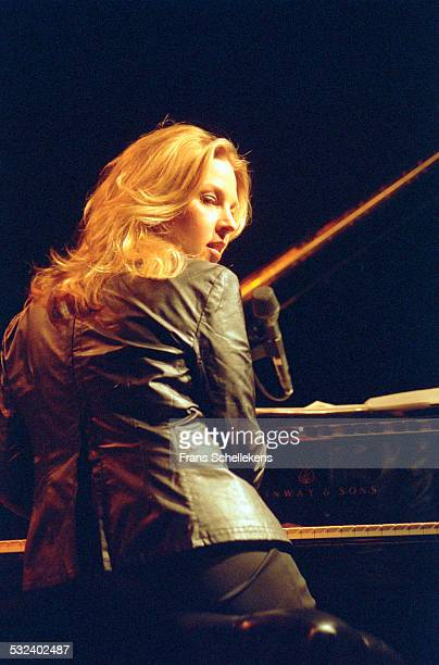Piano player Diana Krall performs at the Concertgebouw on November 14th 2001 in Amsterdam, Netherlands.