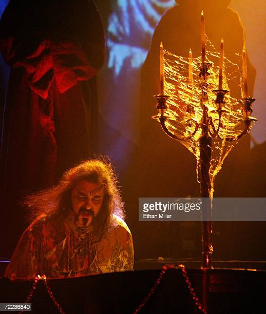 Piano player Doug Katsaros performs during Van Helsing's Curse an 18piece gothic rock opera at The Joint inside the Hard Rock Hotel Casino October 21...