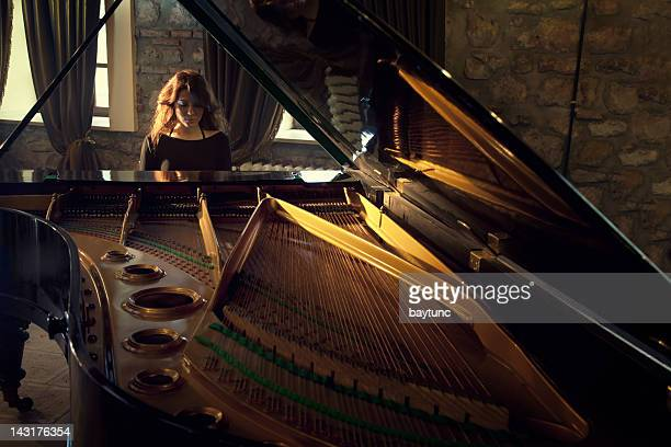 piano player - pianist front stock pictures, royalty-free photos & images