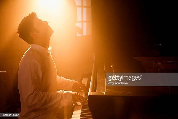 ピアノプレーヤー - ピアノ奏者 ストックフォトと画像