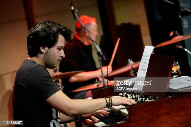 Piano player, Simon Oslender performs together with Grammy winner American saxophonist, Bill Evans during the Krakow Summer Jazz festival.