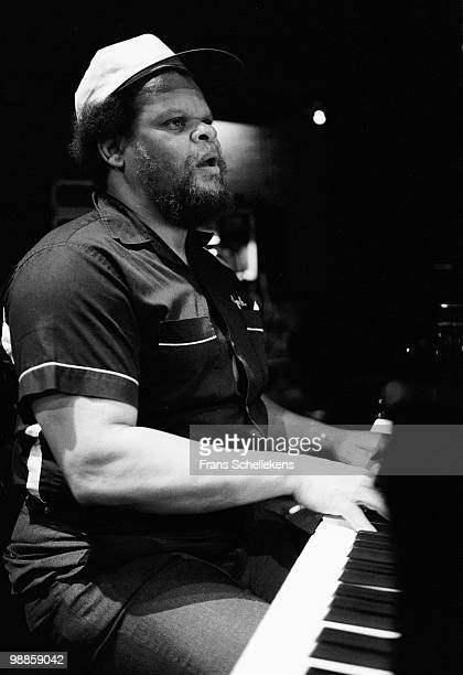 Piano player Walther Davis Jr performs live on stage at the NOS Jazz Festival in Meervaart, Amsterdam, Netherlands on August 11 1983