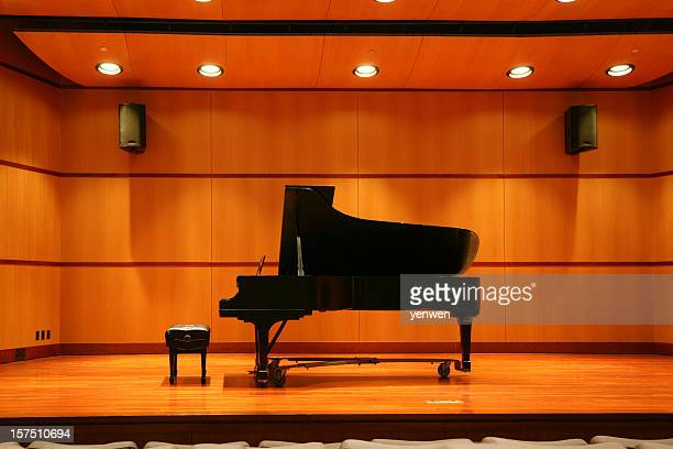 piano recital - grand piano stock photos and pictures