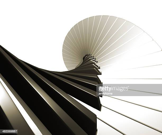 piano - spiral - keyboard instrument stock photos and pictures
