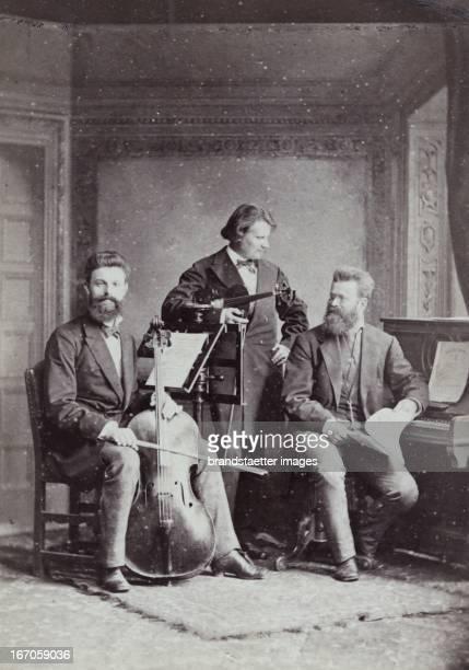 PianoTrio with Robert Hausmann Heinrich de Ahna Karl Heinrich Barth About 1885 Photograph by F C Schaarwächter / Berlin Photograph KlavierTrio mit...