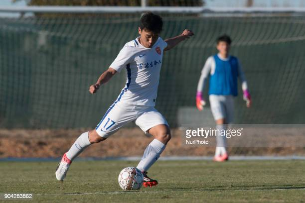 Piao Shihao during the friendly match between Royal Charleroi SC vsYanbian Funde FC at Pinatar Arena Murcia SPAIN 10th January of 2018