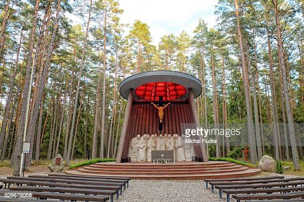 Piasnica Poland 19th Sept 2015 Piasnica forest near Wejherowo northern Poland The massacres in Piasnica were a set of mass executions carried out by...