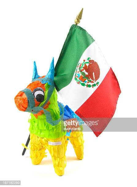 piñata patriot - mexican flag stock pictures, royalty-free photos & images