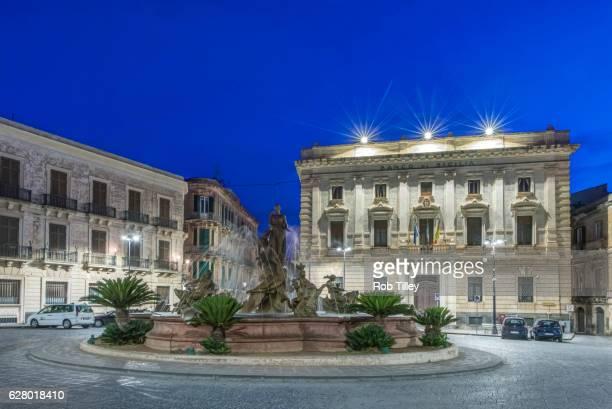 Piazza Archimede at Dawn