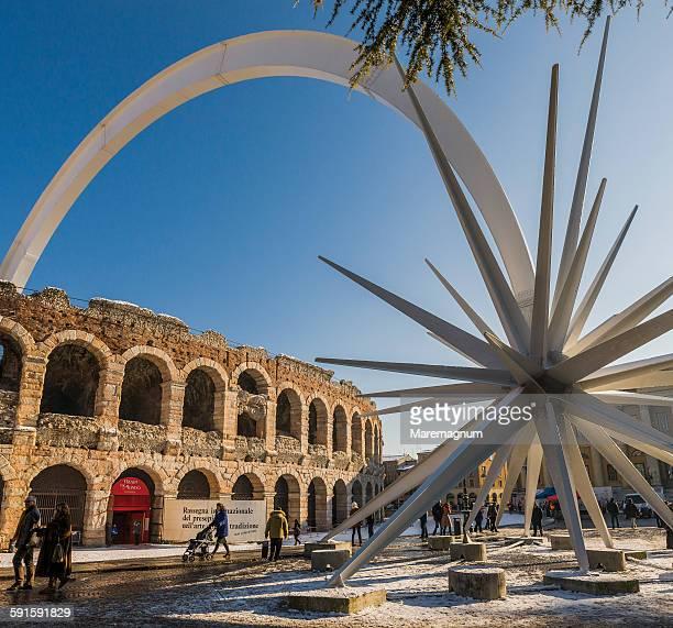 Piazza (square) Bra, monumental comet and Arena