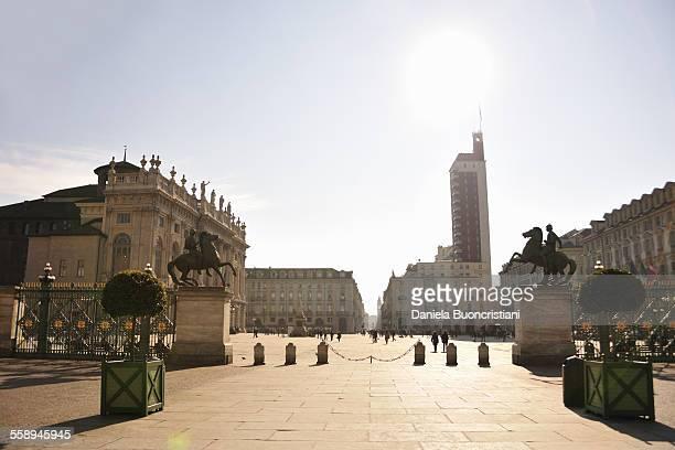 Piazza Castello, Madama Palace, oldest skyscraper, Turin, Piedmont, Italy