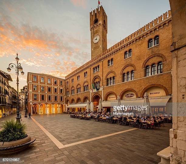 piazza (square) dei signori - treviso italy stock pictures, royalty-free photos & images