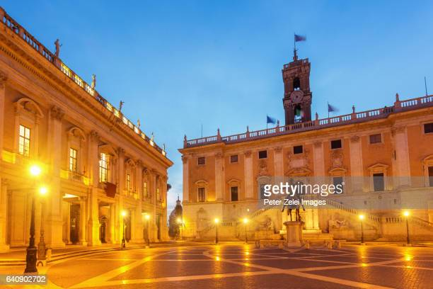 Piazza del Campidoglio with the statue of Marcus Aurelius on the Capitoline Hill, Rome, Italy